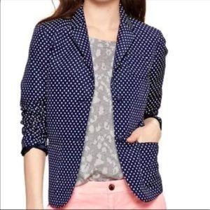 gap academy polka dot blazer size 12